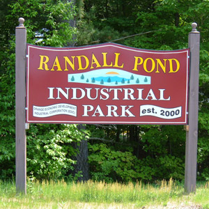 Randall Pond Industrial Park Sign