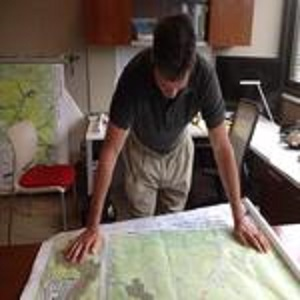 FRCOG Employee looking at map