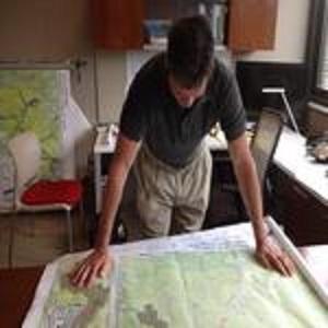 FRCOG Employee looking at map