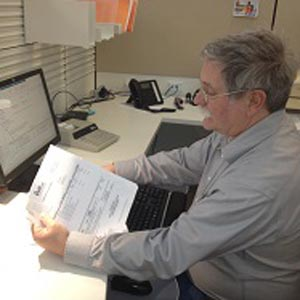 Town Accounting Program Manager Brian at work