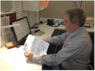 Town Accounting Co-Program Manager, Brian Morton at work