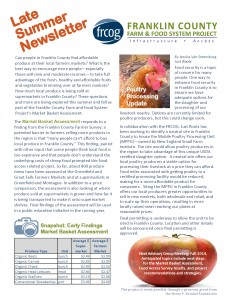 FRCOG FC Farm and Food System Project Summer 2014 Newsletter