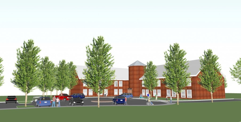 Conceptual design for affordable senior housing in Sunderland center. Photo credit: Berkshire Design Group.