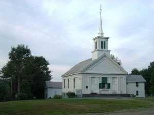 rte 112 Buckland--Mary Lyon Church (MHC 106) & Grange Hall (MHC 107)