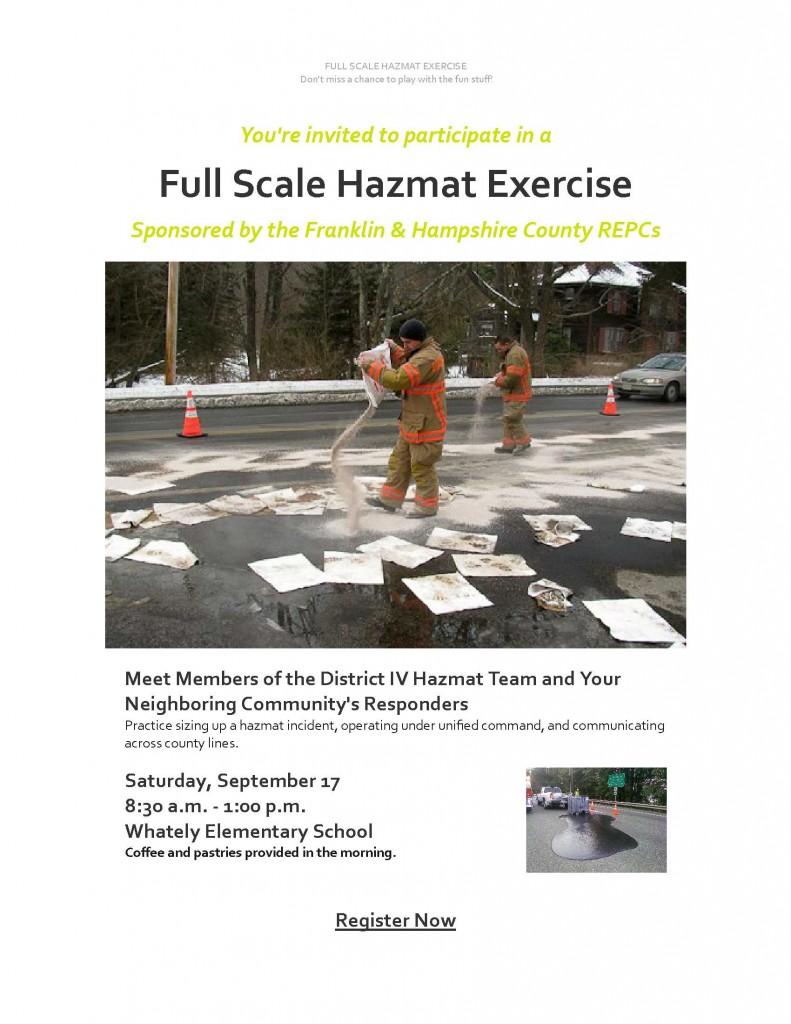 Joint hazmat exercise invitation