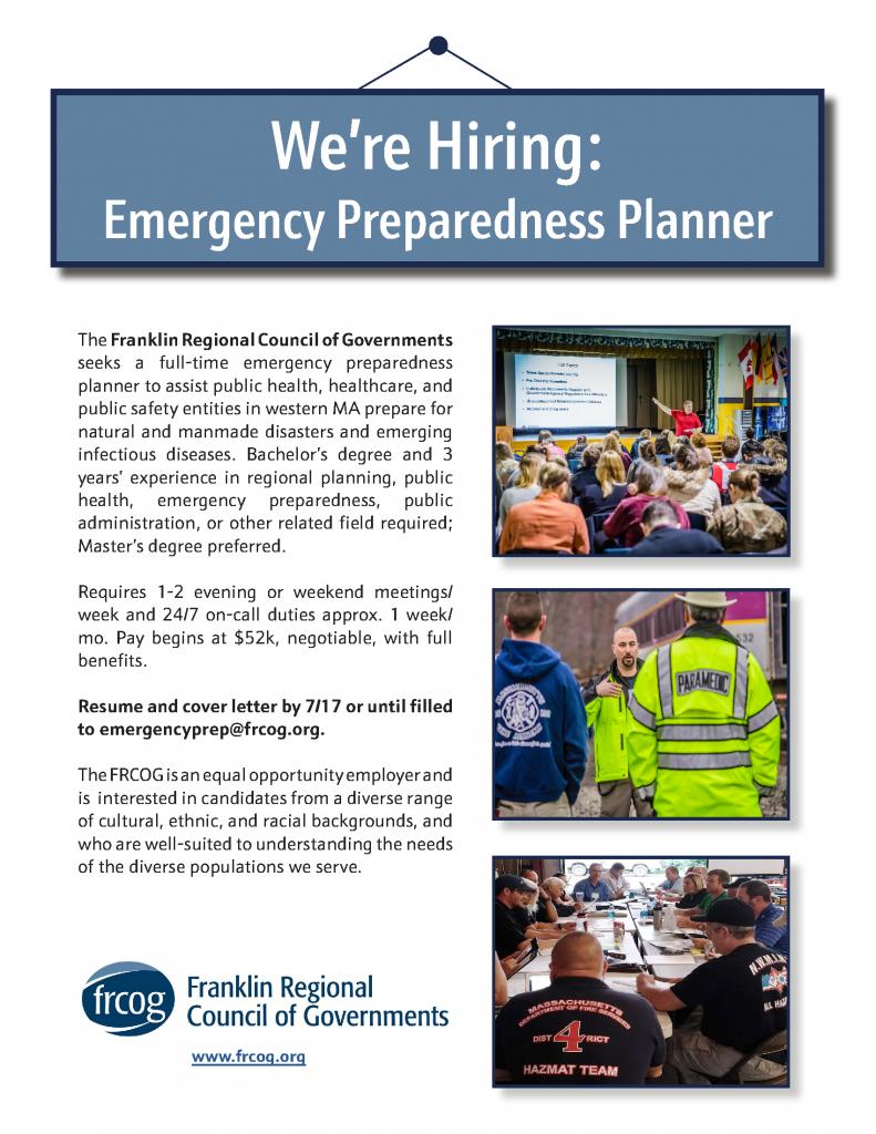 Emergency Preparedness Planner flyer