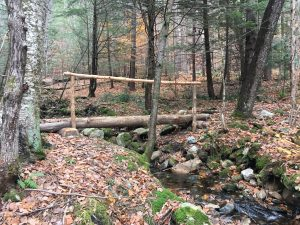 A photo of a newly constructed trail crossing on the Mahican Mohawk Trail